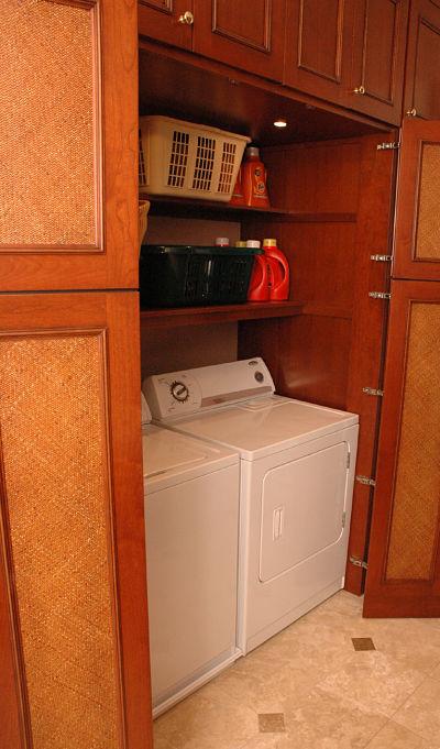 built in laundry closet