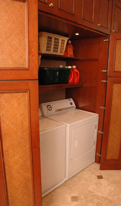 built in laundry closet
