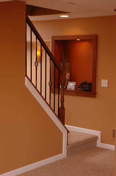 lower level wood frame wall niche