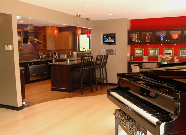 open contemporary kitchen