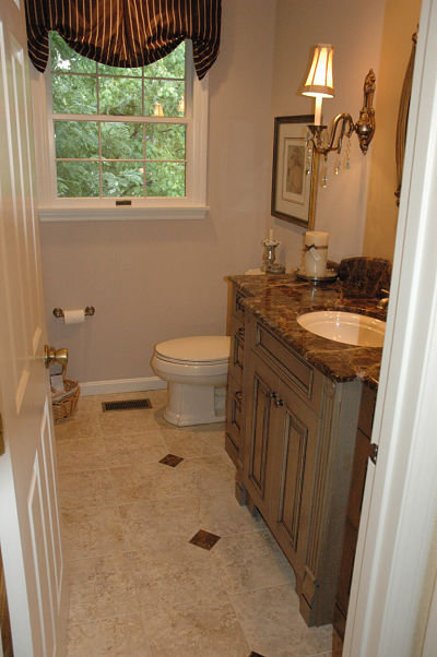 half bath with wide entry