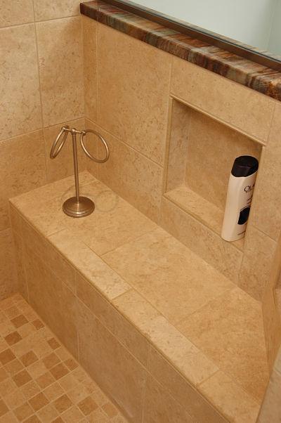 custom shower bench