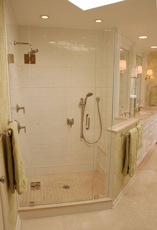Walk in Shower and Vanity
