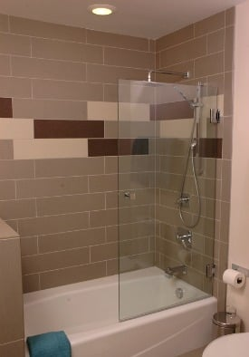 Tub with shower after