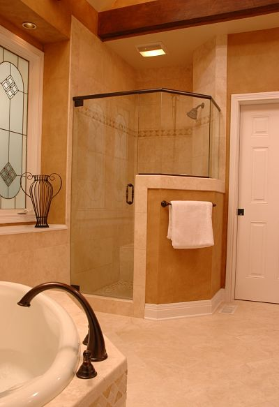 Ventilation Fan with Light Over Shower Stall