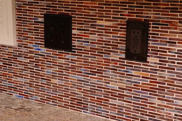 Linear Glass Mosaic Kitchen Tile