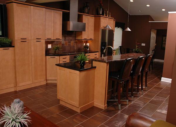 Brick Patterned Kitchen Floor Tile