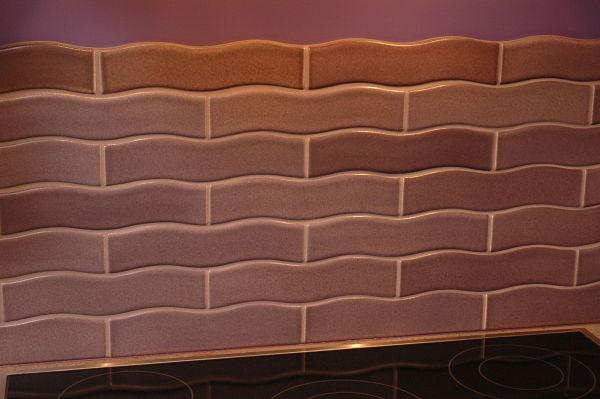 Scalloped Rectangular Kitchen Tile in Subway Pattern