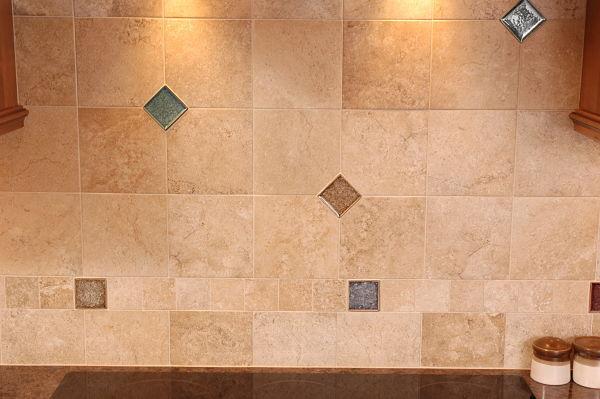 Kitchen with Three Tile Field Pattern