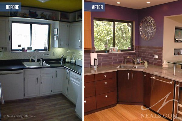 kitchen renovation before after