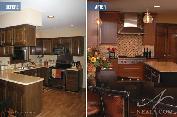 gourmet kitchen before after