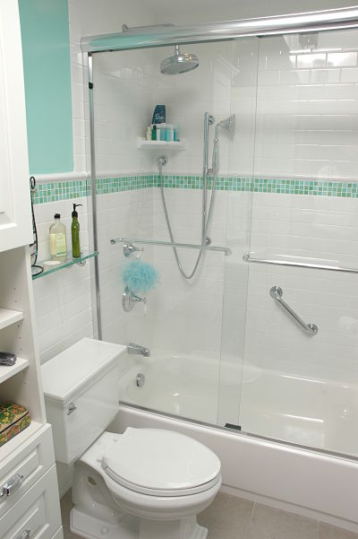 Bathtub and Shower with Grab Bars