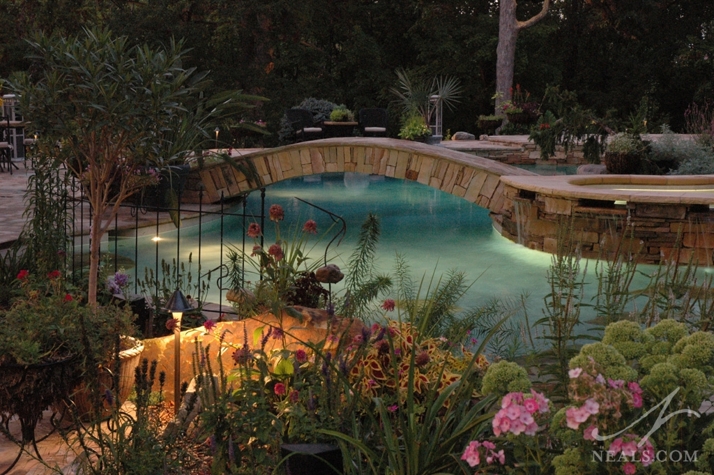Poolside Garden in an Indian Hill project