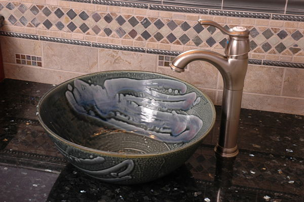 ceramic vessel bathroom sink