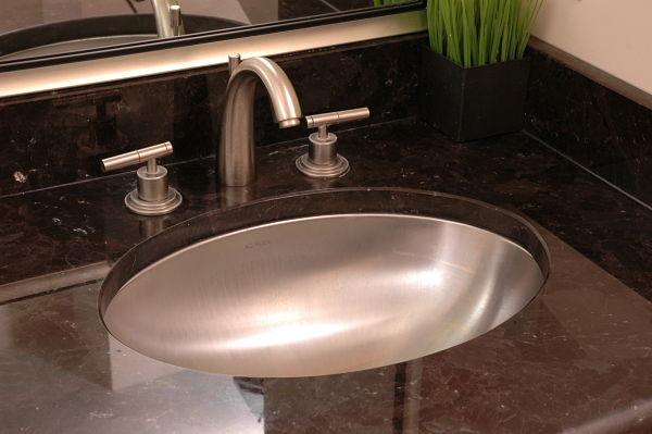 undermount stainless steel bathroom sink