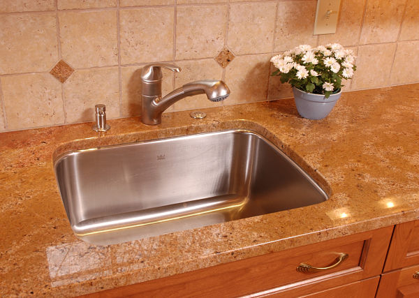 undermount stainless steel sink with single bowl