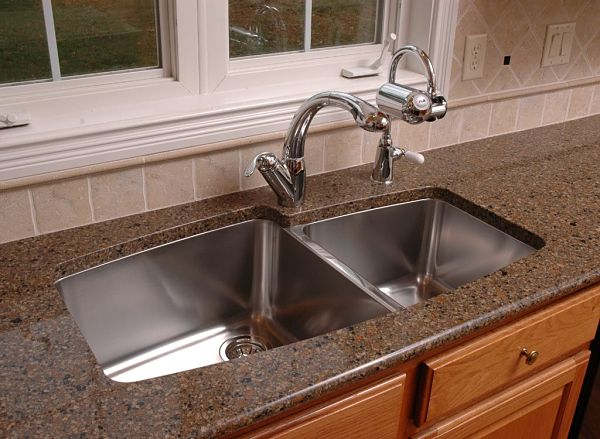 undermount stainless steel sink with double bowl