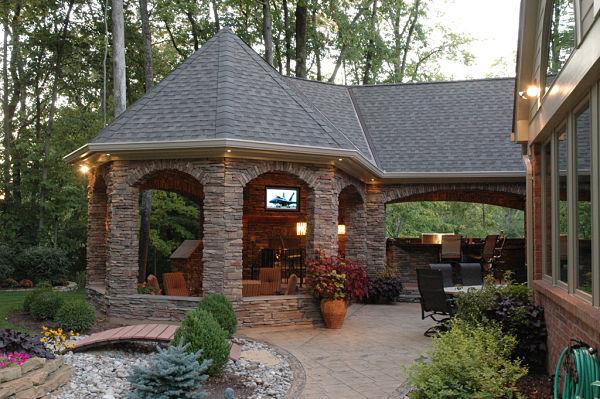 stunning outdoor living retreat