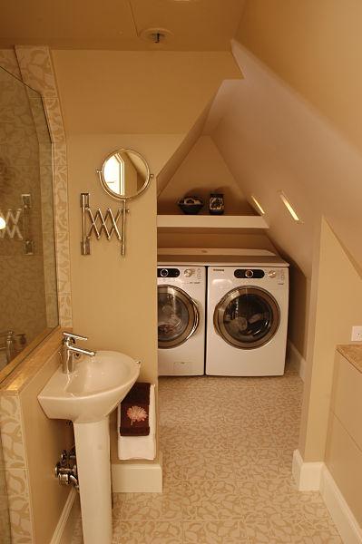Attic Laundry Space