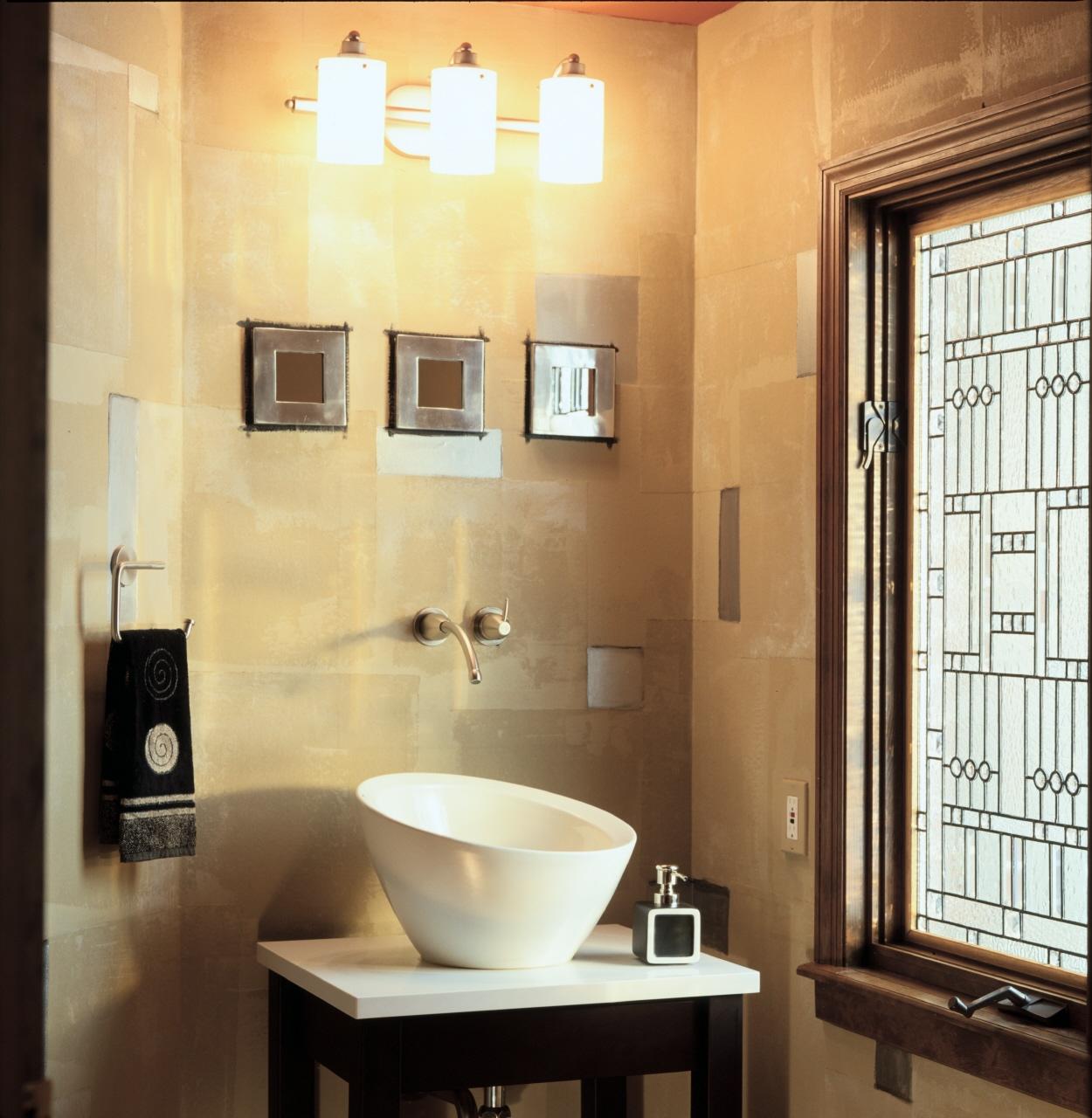 Half Bath with Elegant Sink