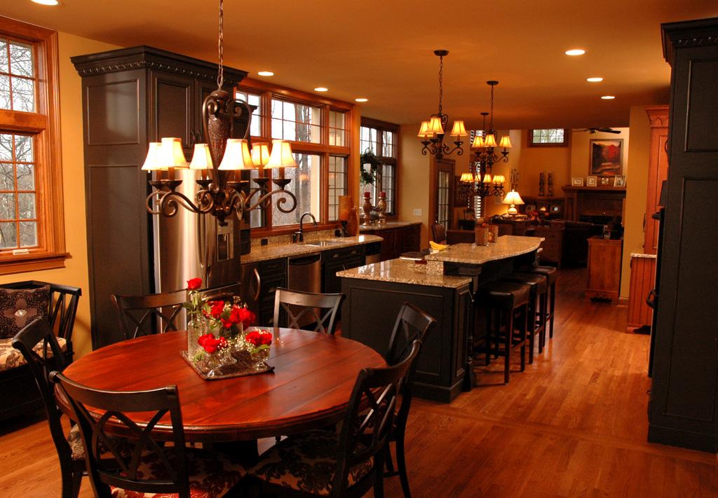 Kitchen open floor plan