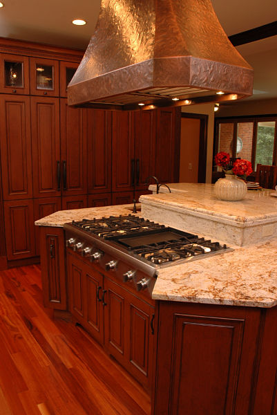 Kitchen Island with Cooktop and Hood