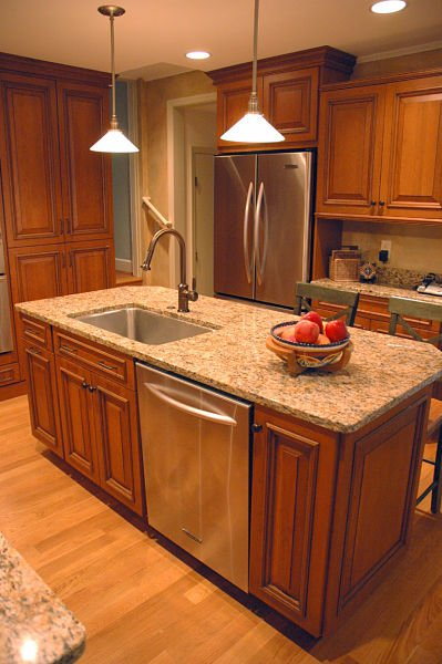 how to design a kitchen island that works attractive kitchen islands with sink and dishwasher 2