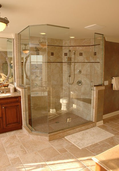 Large Walk in Shower with Seat