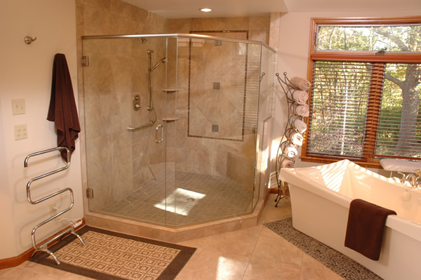 Master Bathroom Spa Shower