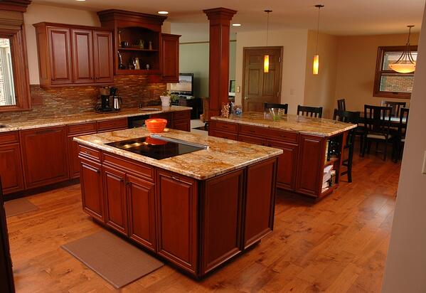 Multiple kitchen islands