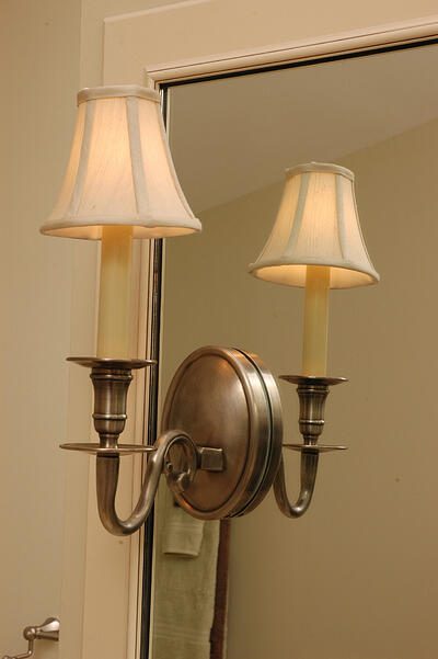 Sconce Light Built Into Mirror