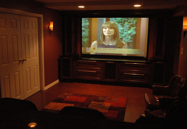 home theatre basement remodel