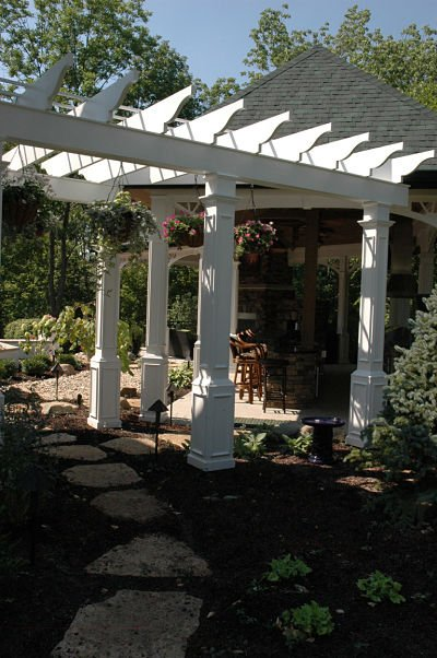 arbor with footpath