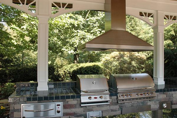 outdoor galley style kitchen