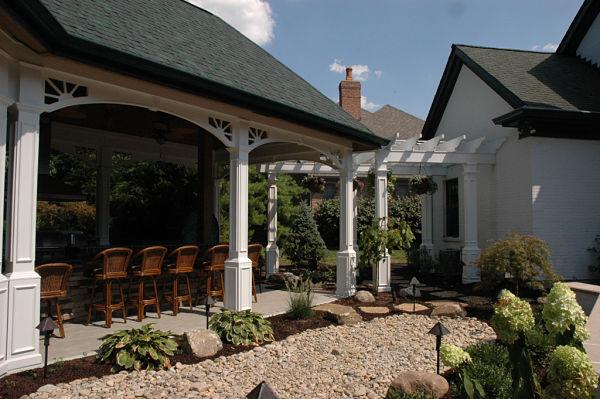 veranda and arbor