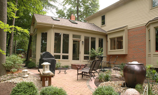 three season sunroom and patio