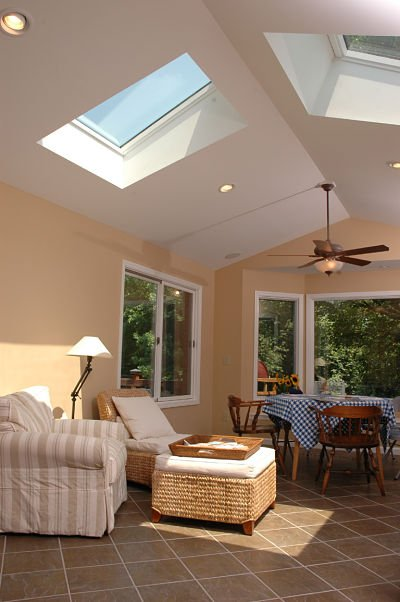 three season room with large skylights