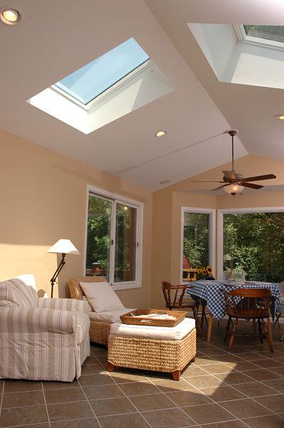 three season room with large skylights