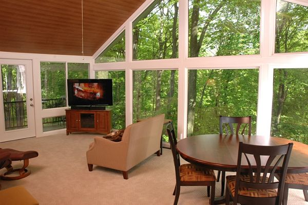 sunroom interior with large window area