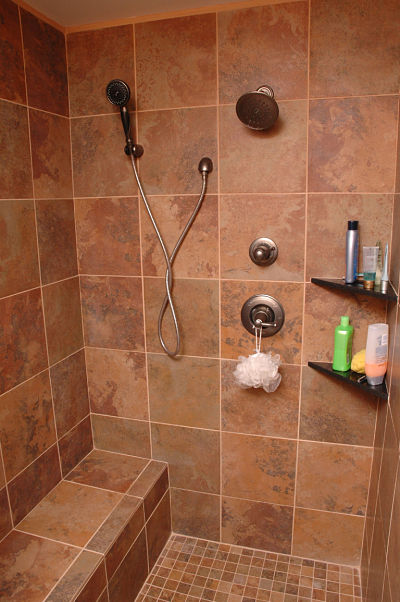 basement walk in shower