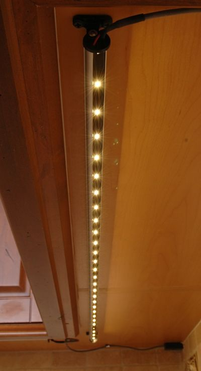 undercabinet LED strip light fixture