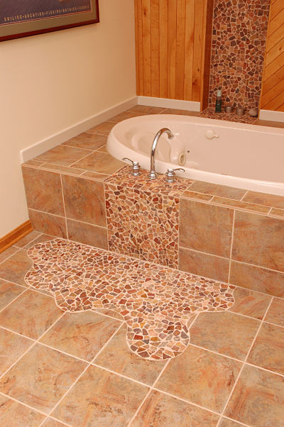 bathroom tile with a twist