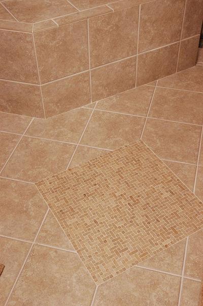 slip resistant tile in walk-in shower