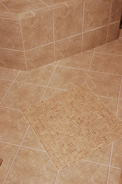 slip resistant tile in walk-in shower