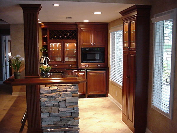 basement kitchen cabinet storage