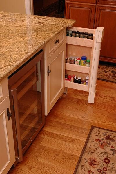 kitchen spice storage drawer