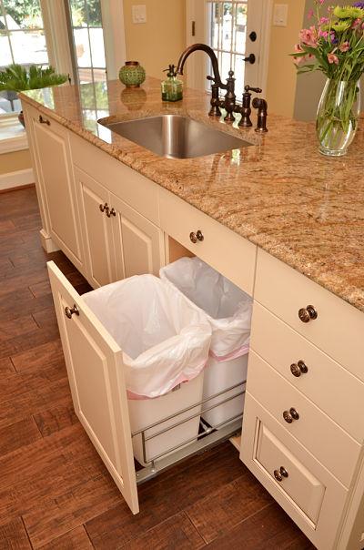 kitchen cabinet drawer for waste baskets