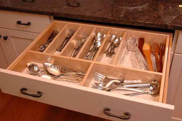 kitchen silverware drawer divider