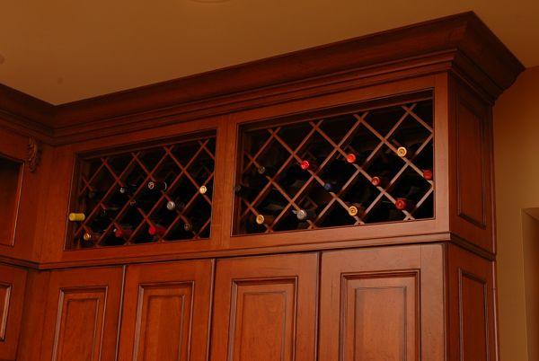 kitchen custom wine rack