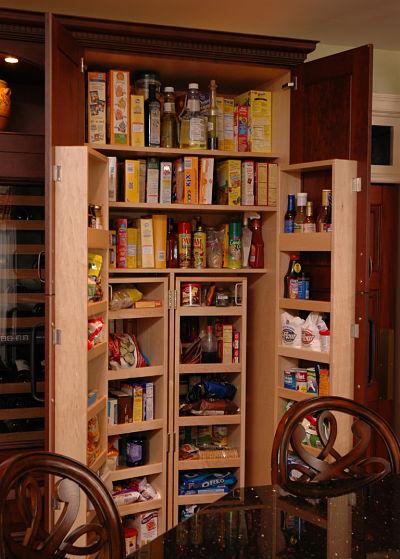 built in pantry storage